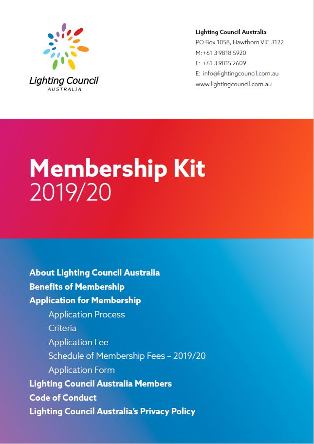 lighting council membership kit